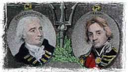 Collingwood (links) und Horatio Nelson (rechts)