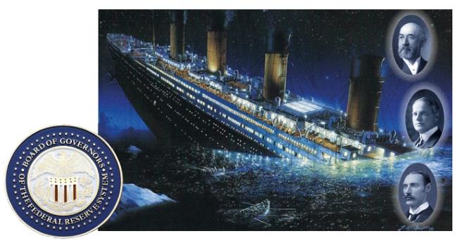 Als die Titanic sank, fanden die gefährlichsten Gegner der geplanten Federal Reserve – einer privaten US-Zentralbank – den Tod: Isidor Straus, Benjamin Guggenheim, und John Astor (v.o.n.u.).